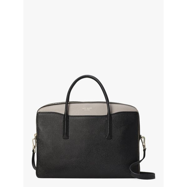 margaux universal laptop bag, black/warm taupe, hi-res