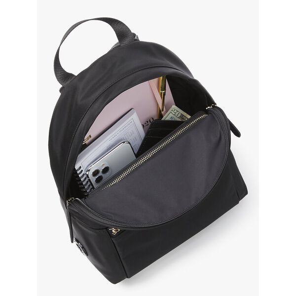 the nylon city pack medium backpack, BLACK, hi-res