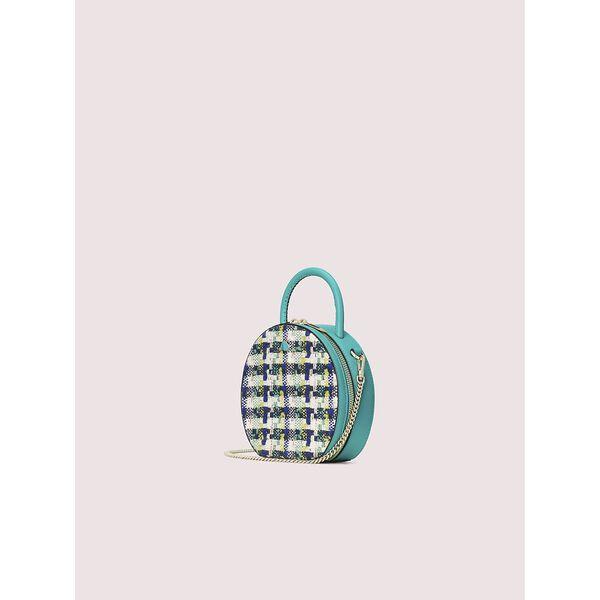 andi tweed mini chain canteen bag, fiji green multi, hi-res