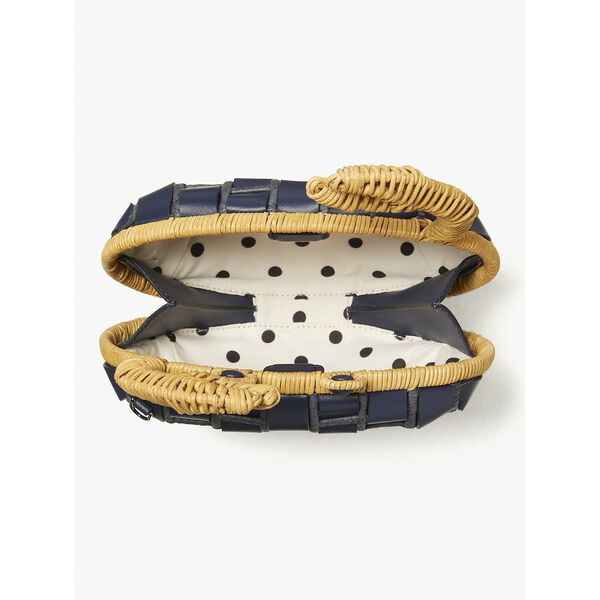 shelly wicker crab crossbody, blazer blue, hi-res