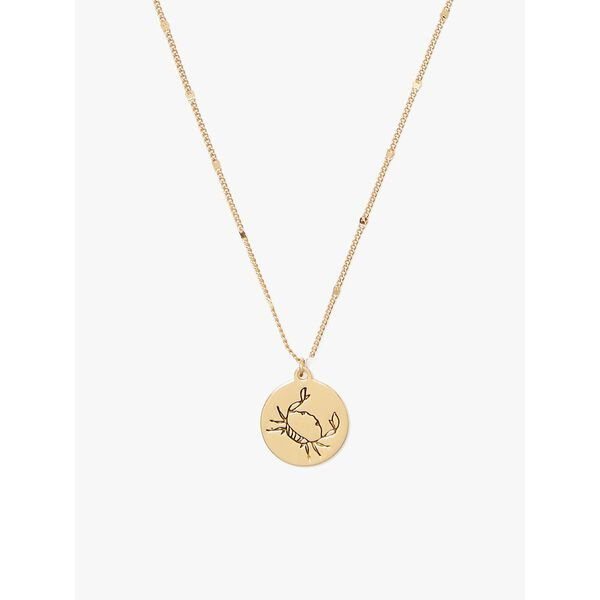 in the stars cancer pendant, gold, hi-res