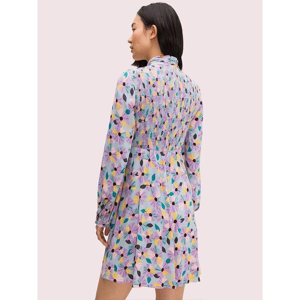 floral smocked dress, moonglow, hi-res