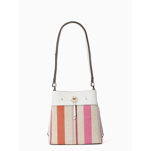 marti striped canvas small bucket, multi, hi-res