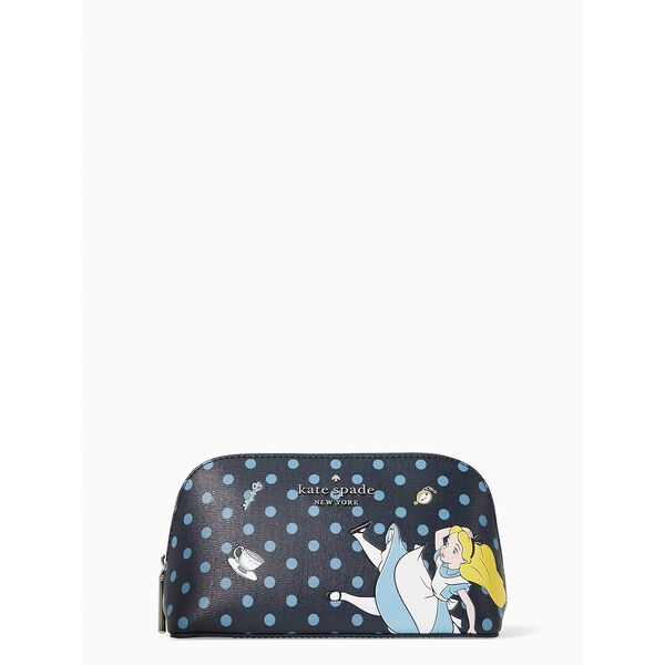 disney x kate spade new york alice in wonderland small makeup bag