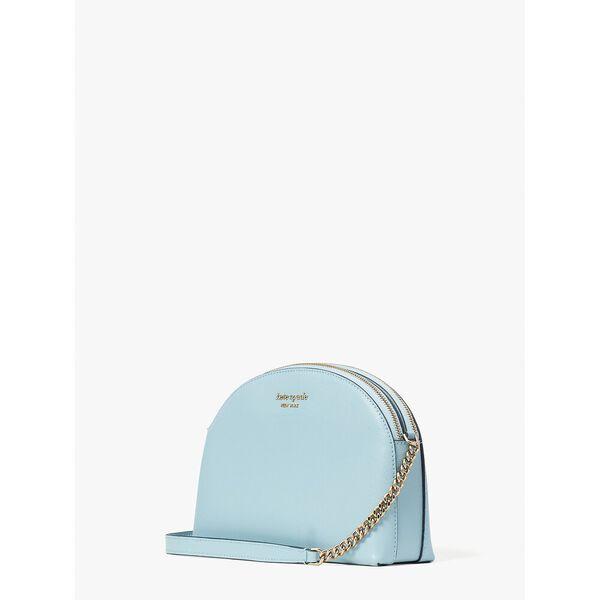 spencer double-zip dome crossbody, teacup blue, hi-res