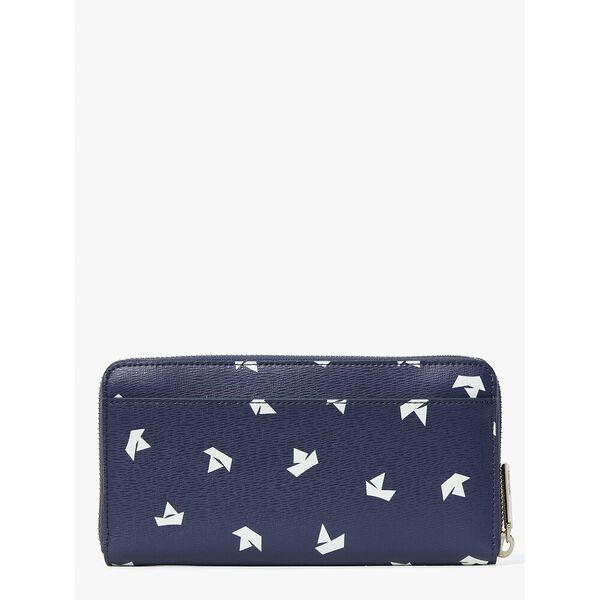 spencer paper boats zip around continental wallet, squid ink multi, hi-res