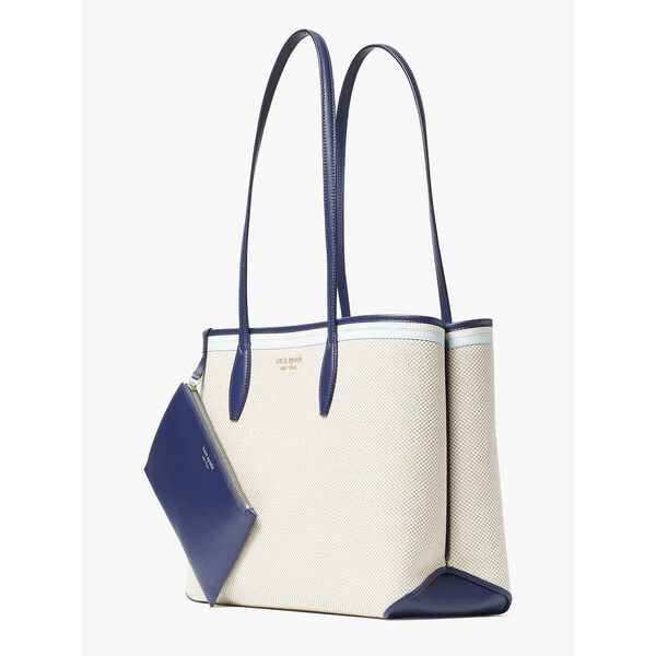 all day canvas large tote, blue multi, hi-res