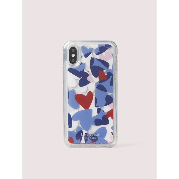 heart party liquid glitter iphone 11 pro case