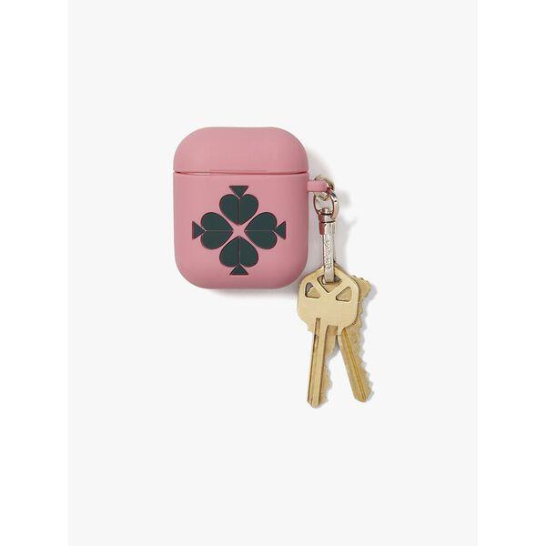 silicone airpods case, rococo pink multi, hi-res
