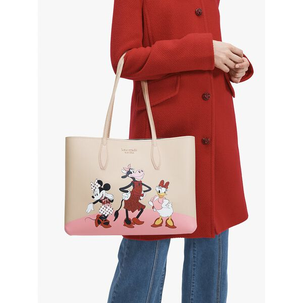 disney x kate spade new york clarabelle & friends large tote, multi, hi-res