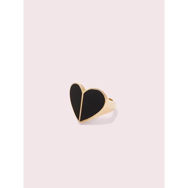 heritage spade enamel heart ring