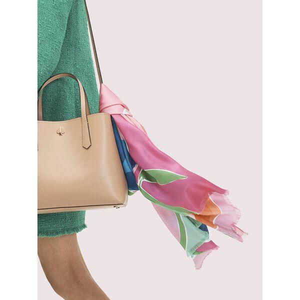 watercolor garden oblong scarf