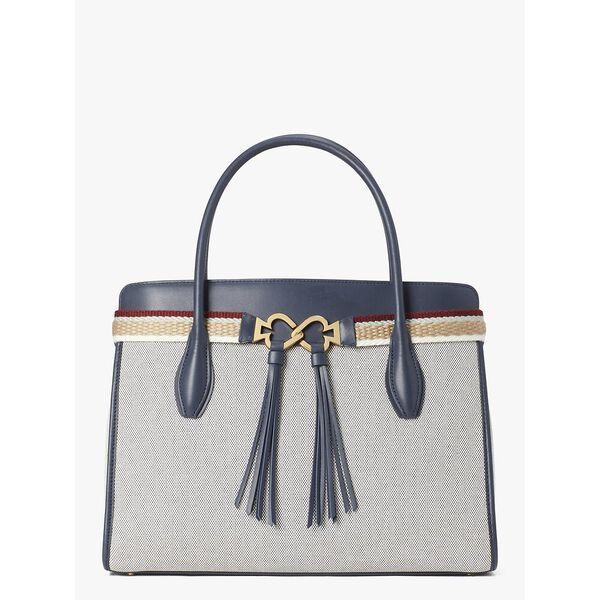 toujours canvas large satchel, BLAZER BLUE, hi-res