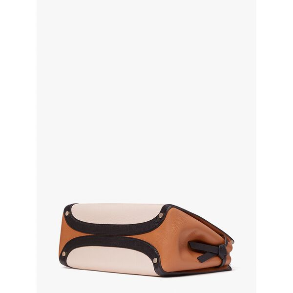knott colorblocked large satchel, milk glass multi, hi-res