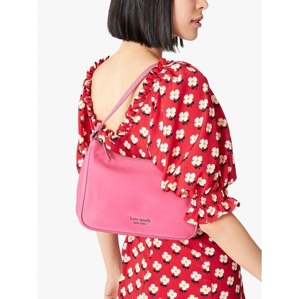 the little better sam nylon small shoulder bag, crushed watermelon, hi-res