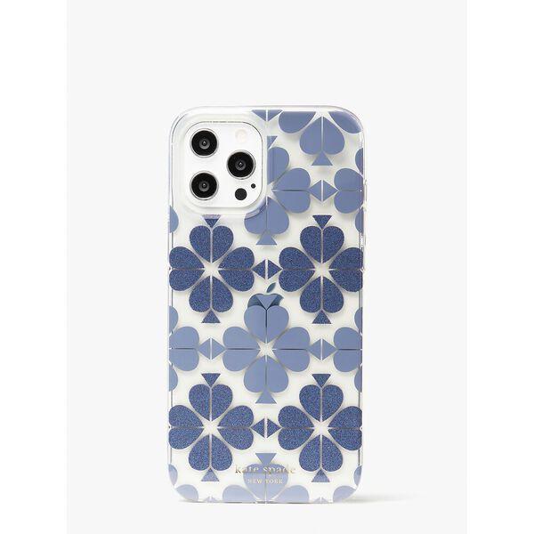 tonal spade flower iphone 12 pro max case, bass blue multi, hi-res