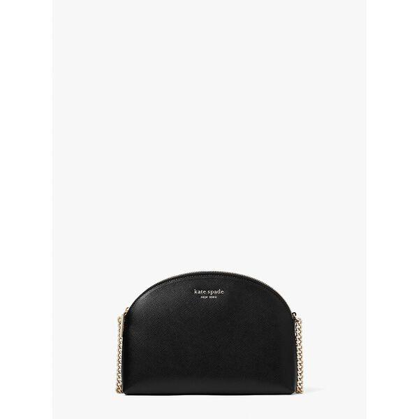 spencer double-zip dome crossbody, black, hi-res