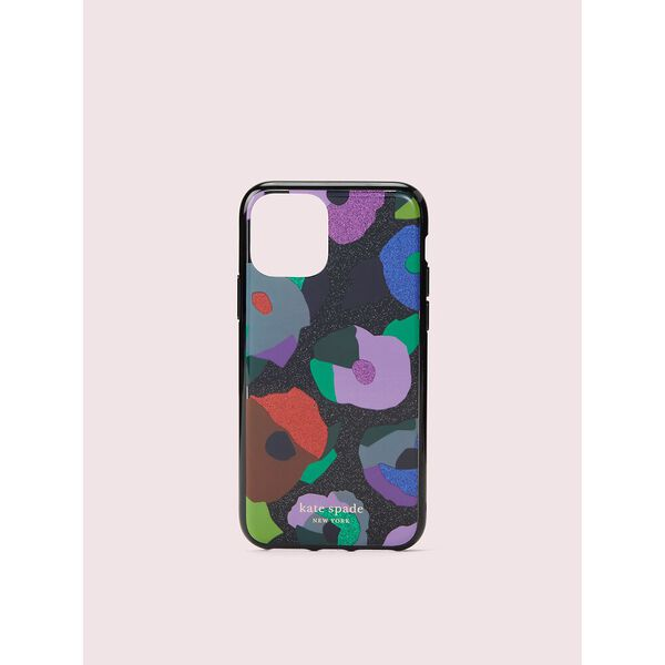 glitter floral collage iphone 11 pro case