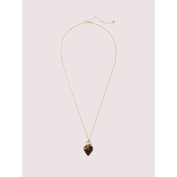 tutti fruity strawberry mini pendant, RED, hi-res