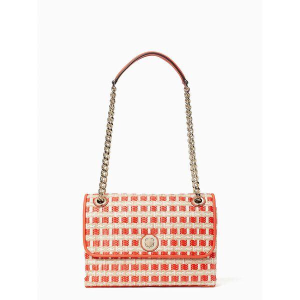 natalia straw medium flap shoulder bag