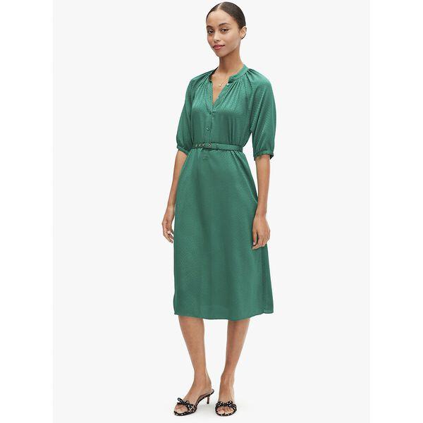 fluid jacquard midi dress