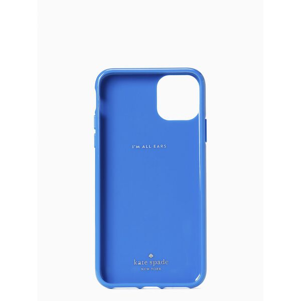 iphone cases kate spade logo iphone 11 pro max case, bright sapphire, hi-res