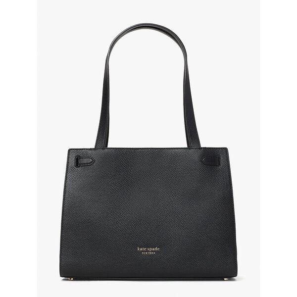 lane large satchel, black, hi-res