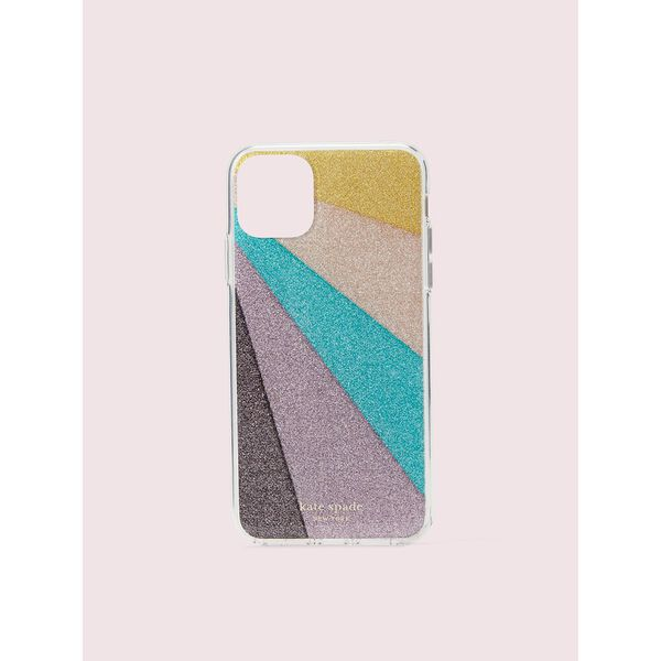 radiating glitter iphone 11 pro max case, multi, hi-res