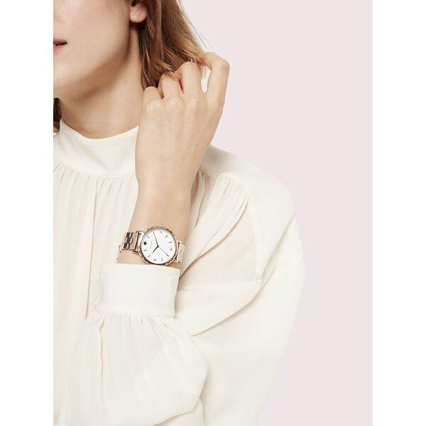 morningside scallop rose gold-tone bracelet watch, rose gold, hi-res