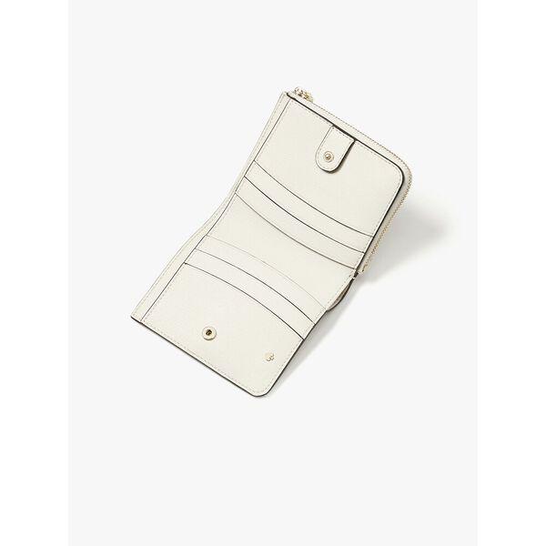 spencer cabana dot small bifold wallet, optic white multi, hi-res