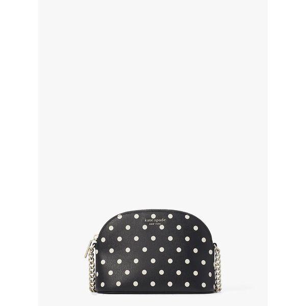spencer cabana dot small dome crossbody, black multi, hi-res