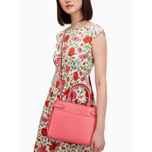 staci medium satchel, garden pink, hi-res