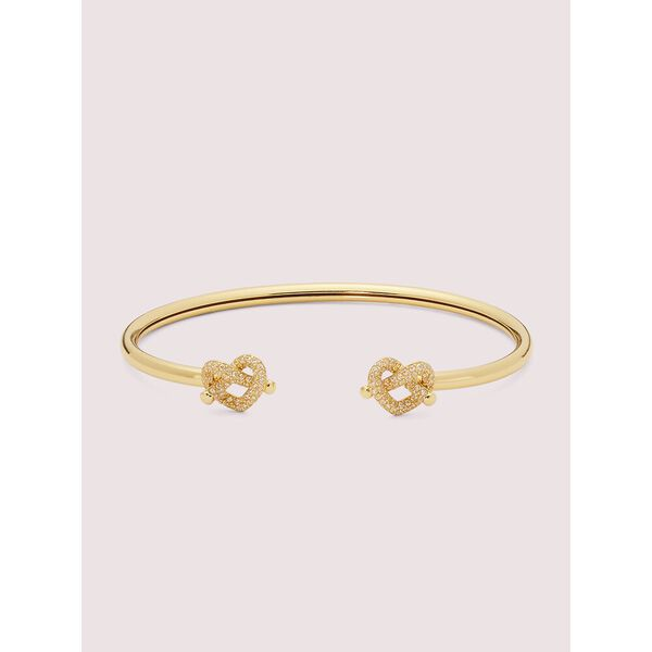 loves me knot pavé flex cuff, clear/gold, hi-res