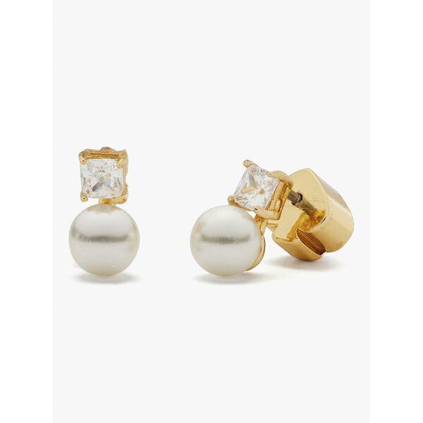 little gem pearl & stone mini studs