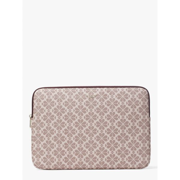 spade flower coated canvas universal laptop sleeve, PINK MULTI, hi-res