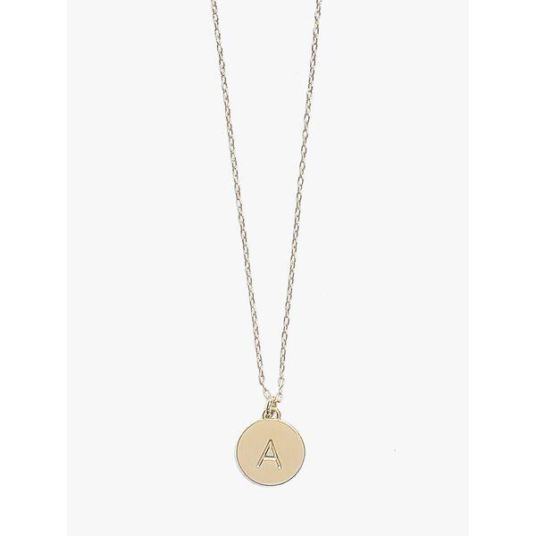 initial mini pendant, gold, hi-res
