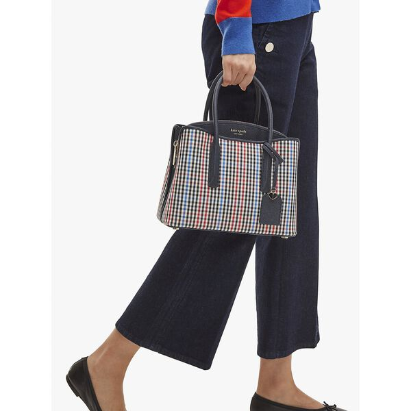 margaux plaid medium satchel, multi, hi-res