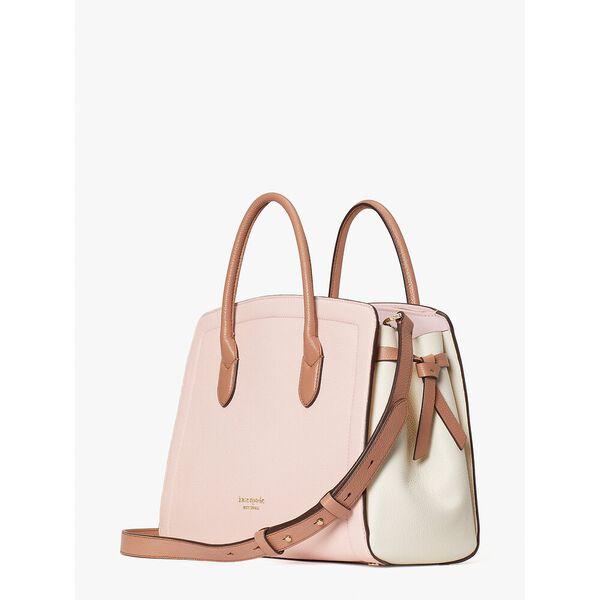 knott large satchel, chalk pink multi, hi-res