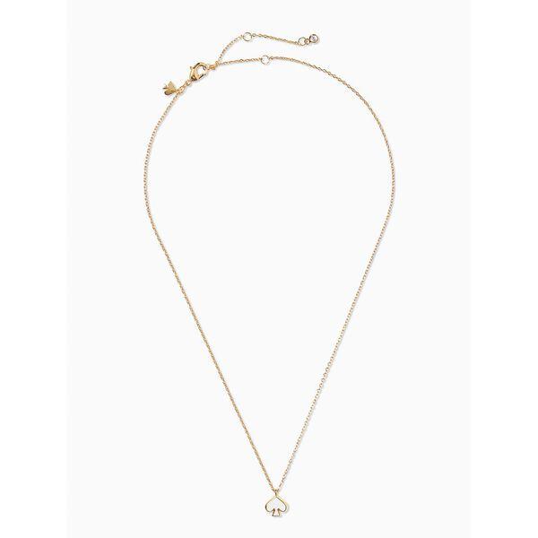 everyday spade enamel mini pendant, white, hi-res