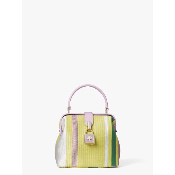 remedy stripe small top-handle bag, YELLOW MULTI, hi-res