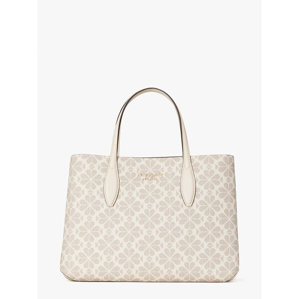 spade flower coated canvas all day medium satchel, parchment multi, hi-res