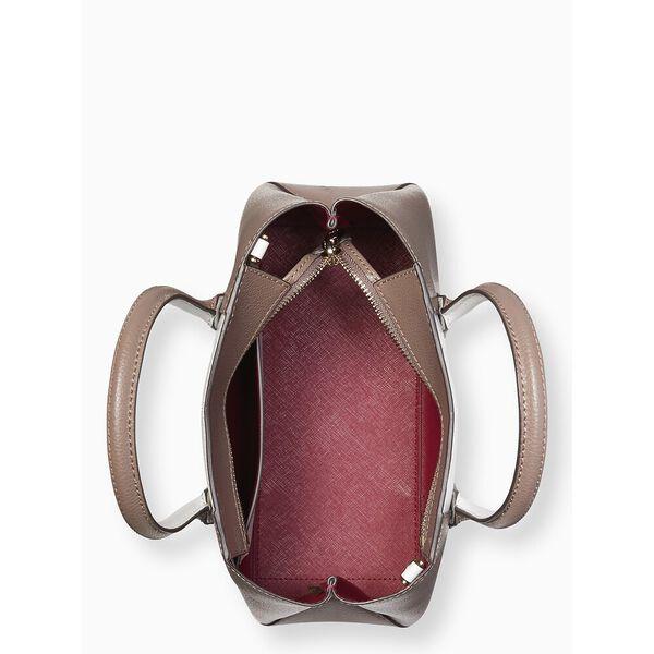 eva split handle small top zip satchel, BROWNSTONE MULTI, hi-res