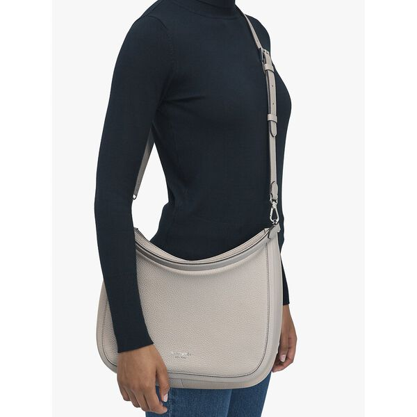 roulette large hobo bag, warm taupe, hi-res