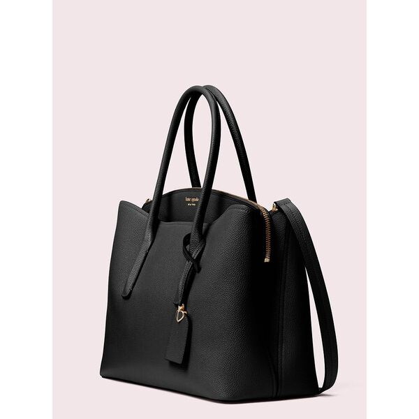 margaux large satchel, black, hi-res