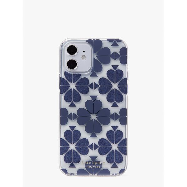 tonal spade flower iphone 12/12 pro case