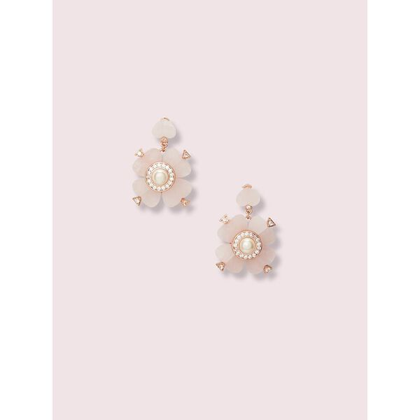 spade flower drop earrings
