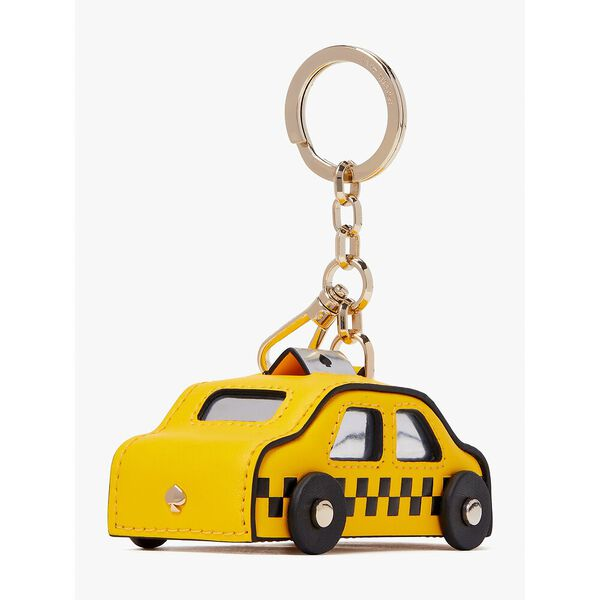 on a roll taxi keychain, yellow multi, hi-res