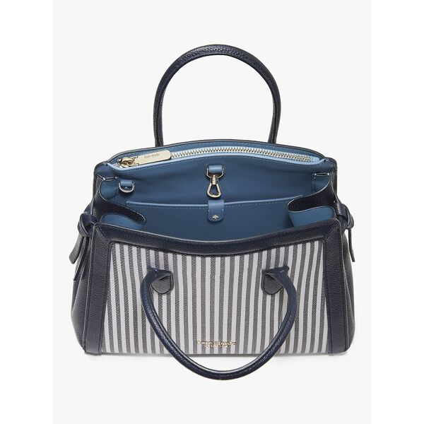 knott stripe medium satchel, blazer blue multi, hi-res