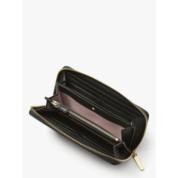 toujours zip-around continental wallet, black, hi-res