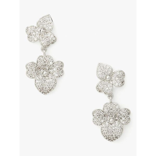 pave statement drop earrings